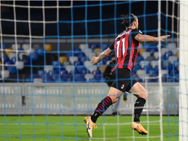 Napoli-Milan 1-3    due magie di Ibra e un infortunio e Hauge    il Diavolo resta in vetta