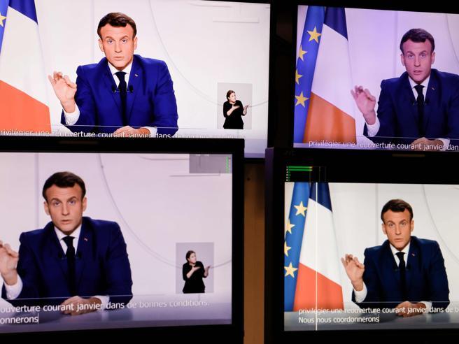 Covid Francia, Macron presenta il piano in tre tappe: «Il picco della seconda ondata è passato»