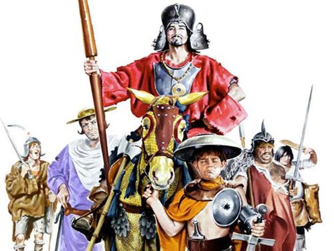 «L'armata Brancaleone» in tv: Catherine Spaak e l'accusa di bullismo, le sfide a braccio di ferro tra Volonté e Gassman e altre 5 curiosità