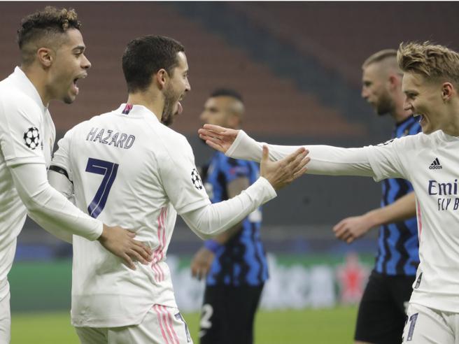 Inter-Real Madrid 0-2, Hazard-Rodrygo: nerazzurri ultimi e a rischioLiverpool-Atalanta 0-2, impresa Dea
