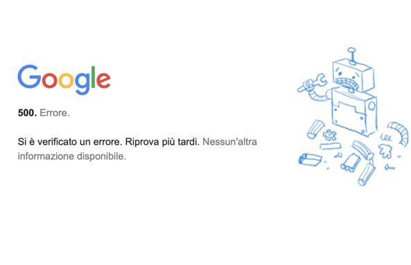 Google Down: YouTube, Gmail e Drive sono inaccessibili per quasi un'ora