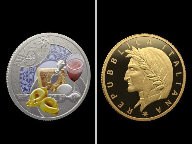 Monete da collezione: la nuova serie della Zecca celebra Dante, il tortellino emiliano e la Nutella