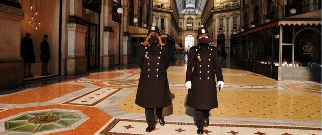 Nella foto la Galleria Vittorio Emanuele II a Milano