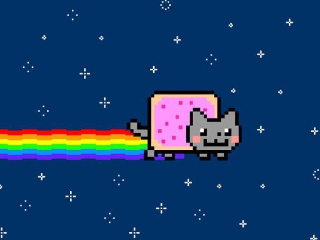 La Gif del gatto arcobaleno è stata venduta online per quasi 500 mila euro