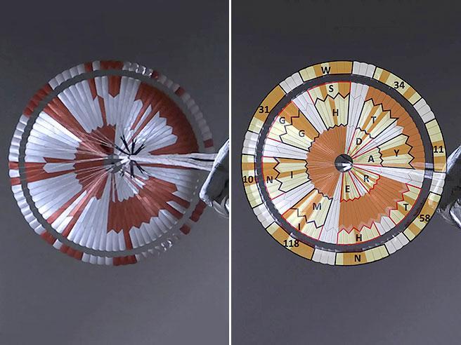 Nasa, un messaggio criptato nel paracadute di Perseverance: «Osa cose potenti»