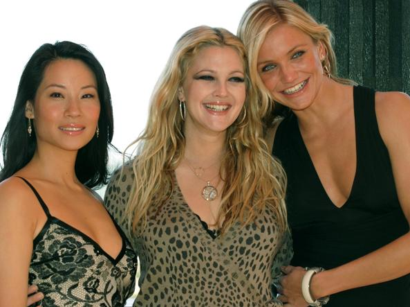 Lucy Liu, Drew Barrymore e Cameron Diaz in Charlie's angels, 2003 (Afp)