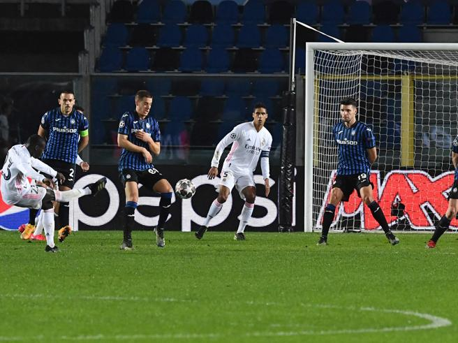 Atalanta Real Madrid 0 1, Mendy solo nel finale spegne la resistenza dei lombardi in 10 per 70'