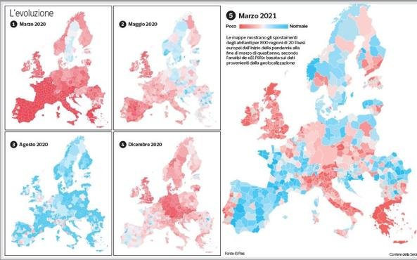 Covid and travel, Europe divided by travel (but Italy is at a standstill)