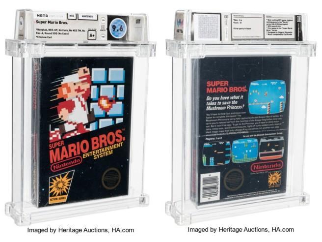 Super Mario Bros. per Nes venduto all'asta per 660 mila dollari: è il videogioco più costoso di sempre