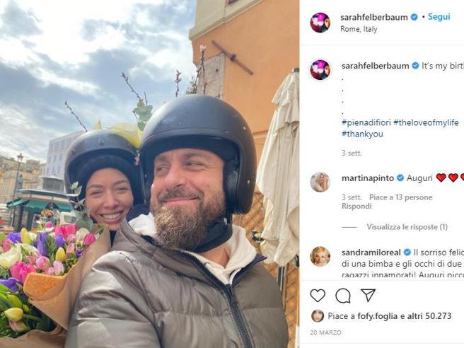 De Rossi, il messaggio commovente della moglie Sarah Felberbaum: «Ho perso la mia strada fino a te»