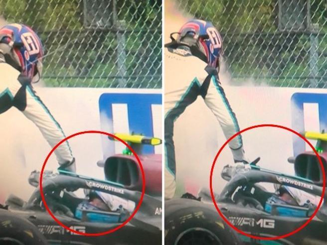 F1, Gp Imola incidente Bottas-Russell: lite tra i piloti (e perfino uno schiaffo)