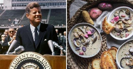 Zuppa di vongole, il piatto preferito di John Fitzgerald Kennedy