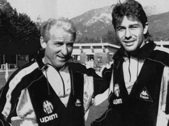 Con Giovanni Trapattoni, suo allenatore alla Juve e modello da allenatore