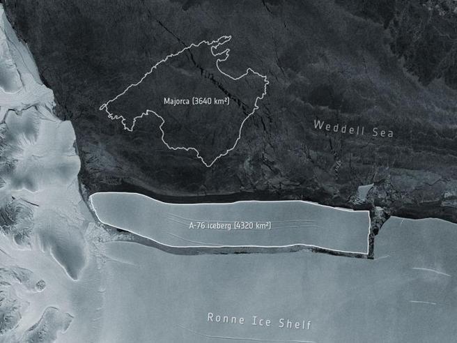 L'iceberg più grande della storia si stacca dall'Antartide: è grosso come il Molise