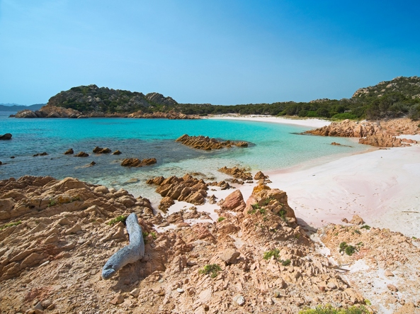 The famous Pink beach of the island of Budelli, symbol of the entire park of La Maddalena (Spanu)