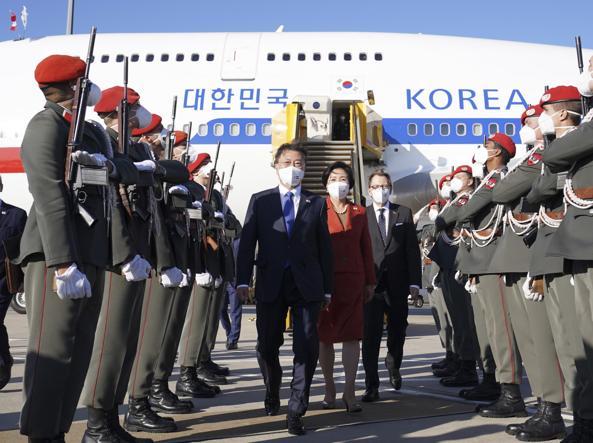 Il presidente sudcoreano Mon Jae-in (Epa)