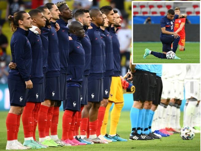 Dietrofront dopo le pressioni: Mbappé & Co. non si inginocchiano