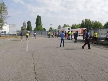 Biandrate, sindacalista investito da un camion: le foto della tragedia