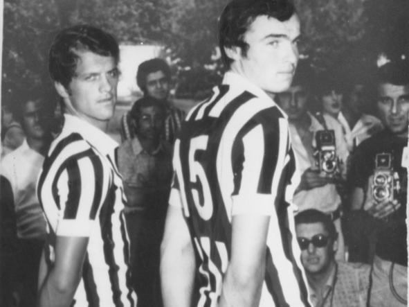 Capello con Fausto Landini ai tempi della Juventus, nel 1975