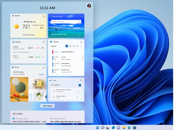 Windows 11, informarsi con i feed e accomodarsi con le widget