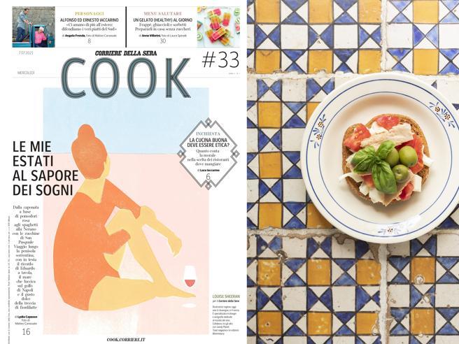 Le ricette per l'estate e lo speciale sulla Costiera sorrentina, Cook in edicola il 7 luglio