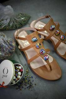 L'arte delle perle veneziane? Ora anche sui sandali