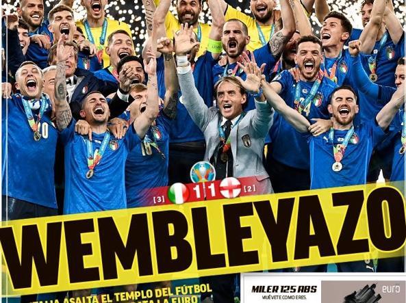 La prima pagina del quotidiano spagnolo Marca