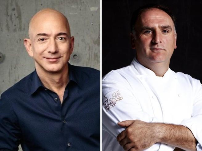 Jeff Bezos dona 100 milioni di dollari allo chef José Andrés per la lotta alla fame