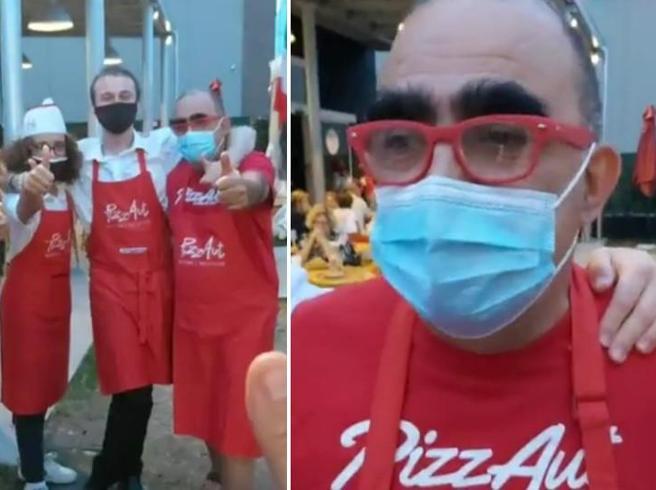 Elio e i suoi due figli camerieri da PizzAut: «Una serata straordinaria»