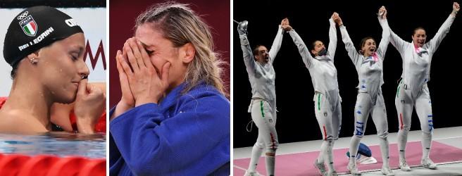 Federica Pellegrini, Maria Centracchio e le Azzurre della spada a squadre
