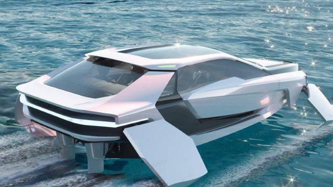 Barca o auto? Design da supercar, foil da America's Cup: ecco Future-E