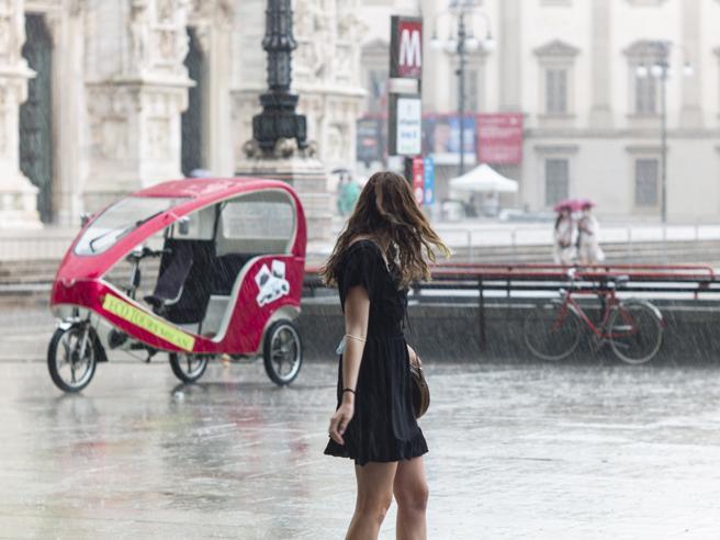 forti piogge e grandine (ma al Sud è ancora estate)