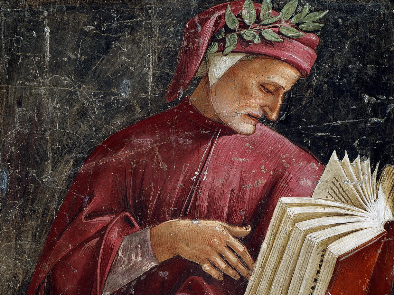 Ritratto di Dante Alighieri in un affresco di Luca Signorelli