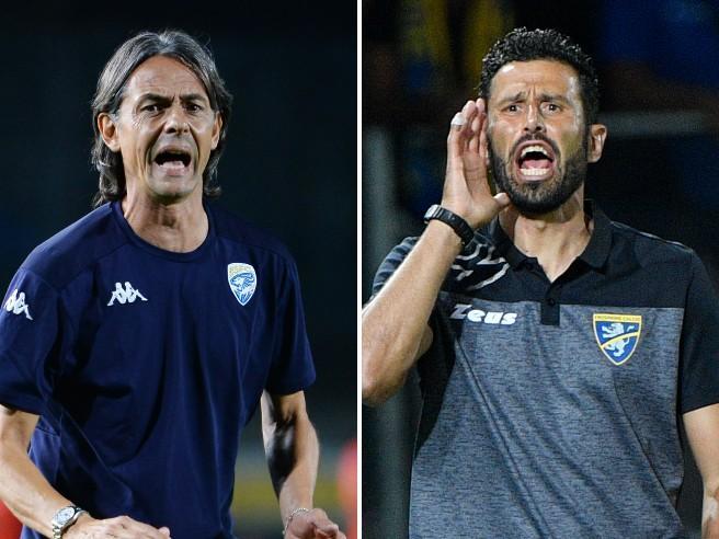 Grosso: «Da Pippo Inzaghi mi aspetto più sportività». Lite tra campioni del mondo in Frosinone-Brescia