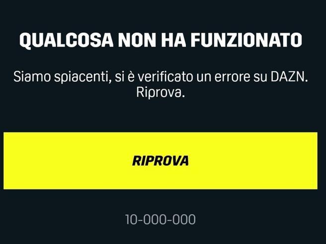 Dazn, problemi durante Sampdoria-Napoli e Torino-Lazio: errore 10000. Perché non funziona