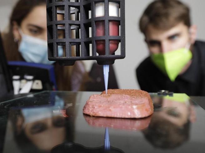 La bistecca vegetale stampata in 3D: nei supermercati nel 2022