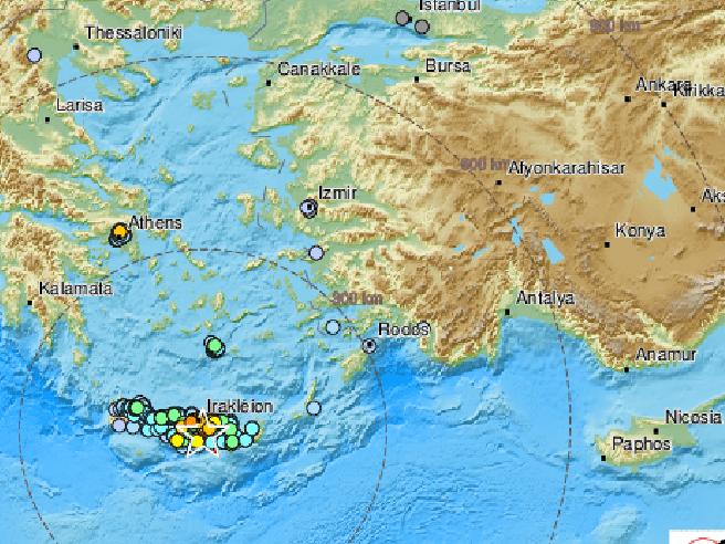 Terremoto a Creta di magnitudo 6.1