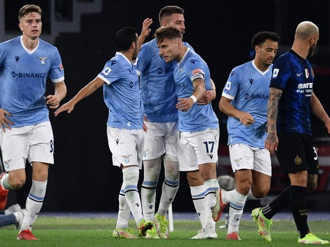 Lazio Inter 3 1, Immobile, Anderson e Milinkovic Savic rispondono a Perisic