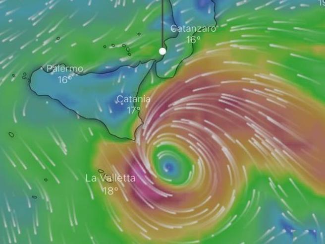 Medicane in Sicilia e Calabria: il vero ciclone si formerà tra giovedì sera e venerdì