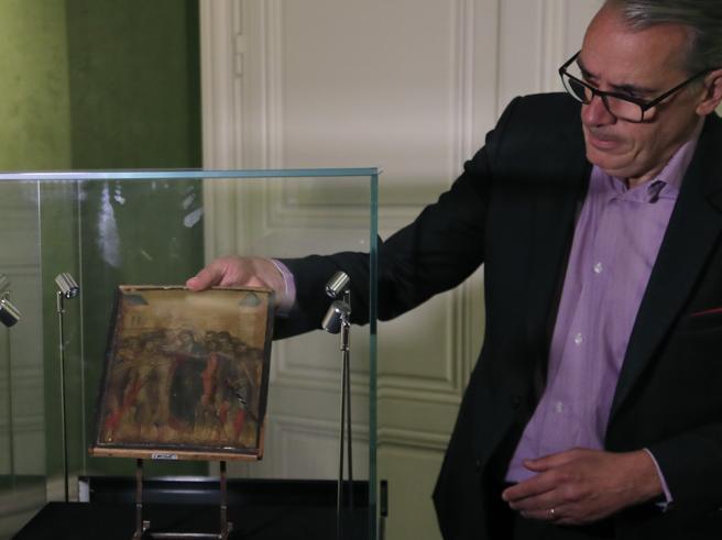 Cimabue,   il «Cristo deriso» (trovato in una cucina)  venduto per oltre 24 milioni