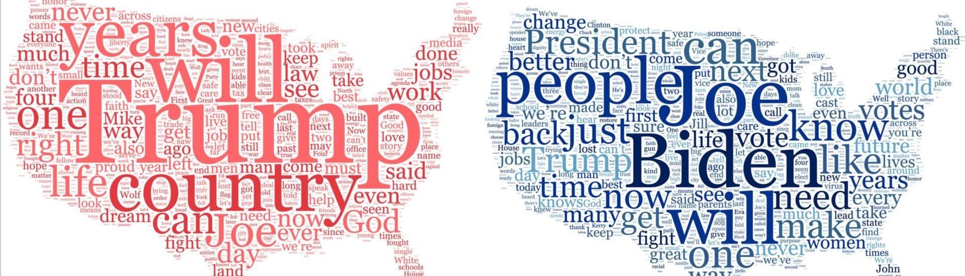 I tag cloud sono una raccolta delle parole chiave emerse dalle due convention, repubblicana e democratica, che si sono svolte a fine agosto