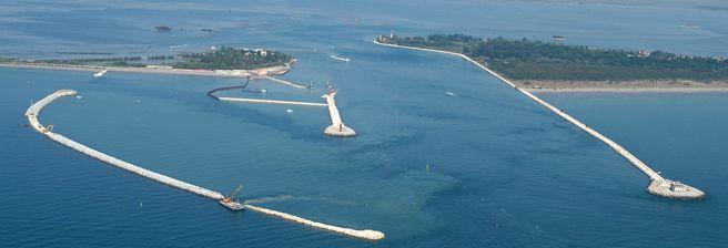 Una delle bocche di porto di Venezia