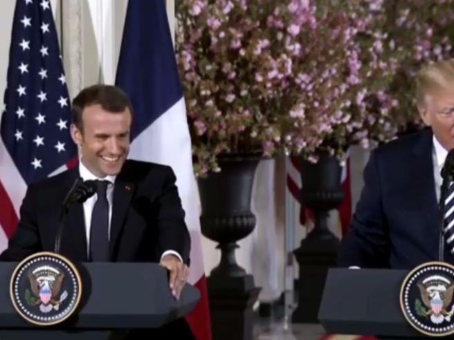 Vertice Usa-Francia | la conferenza stampa in diretta  di Trump e Macron