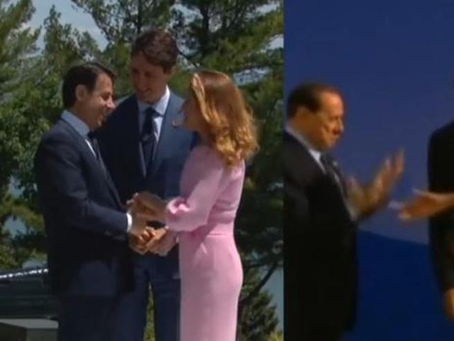 Conte e il baciamano alla first lady canadese: il confronto con Berlusconi e Renzi