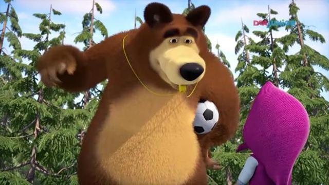 Masha e orso tifano russia ai mondiali: in arrivo delle puntate