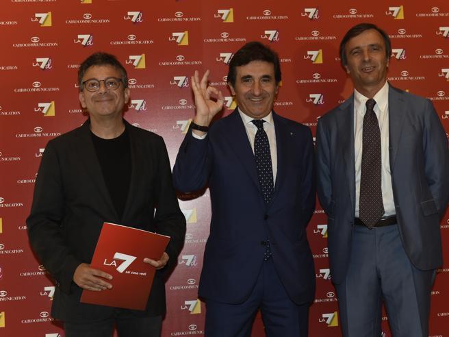 Cairo: «La7 riparte dai suoi volti storici, Rai avvantaggiata da canone e pubblicità»