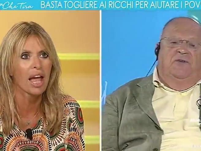 Lo scontro in tv è durissimo, Cazzola a Mussolini: «Voterò Pd perché voi mi fate schifo»