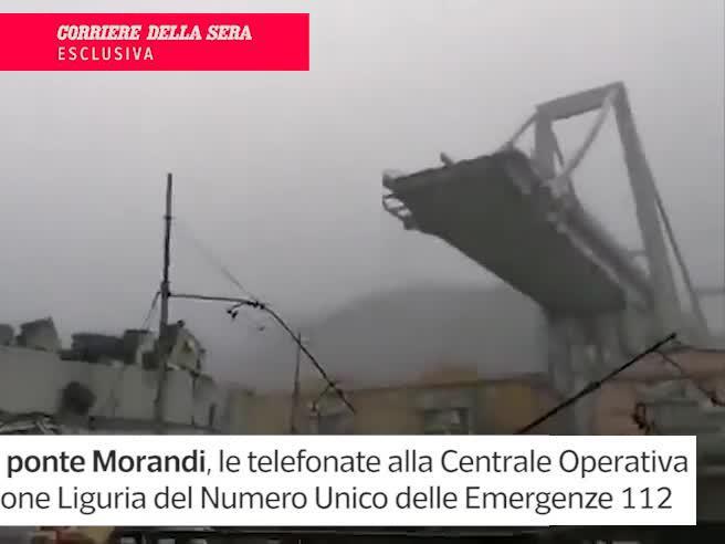 Crollo ponte Morandi, le telefonate disperate al 112: «È venuto giù il viadotto, correte»