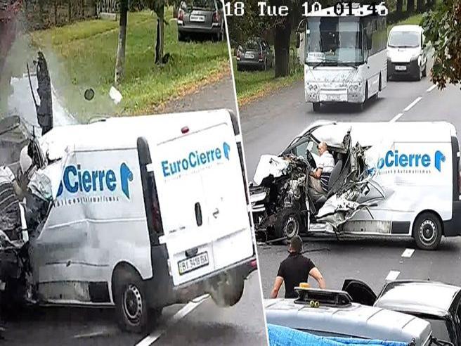 S'addormenta alla guida, piomba contro un camion ma ecco come si salva questo guidatore