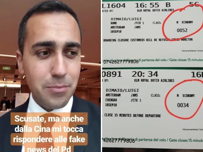 «Era in business class» Di Maio replica alle accuse: «Fake news»